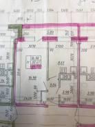1-комнатная, улица Первомайская 27 стр. 1. ЖД вокзал, частное лицо, 36кв.м. План квартиры