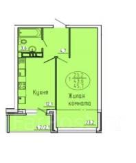 1-комнатная, улица Железнодорожная 24. ЦМР, частное лицо, 46кв.м.