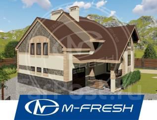 M-fresh Livingston (Готовый проект дома с сауной в цоколе). 400-500 кв. м., 1 этаж, 6 комнат, бетон