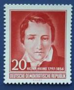 1956 ГДР. Генрих Гейне. 1 марка Чистая