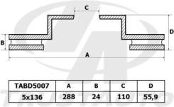 Диск Тормозной MMC Canter FB511, FE517, FE537, FE637