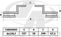 Диск Тормозной TLC Prado J120/J125/J150/J155