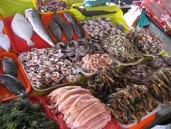 Интересуют морепродукты.