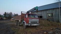КамАЗ 55102. Бортовой грузовик с манипулятором, 10 850куб. см., 10 000кг., 6x4