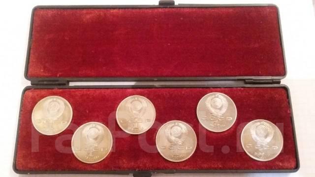 """Набор монет """"Олимпиада в Барселоне-92"""" из 6 монет. В футляре."""