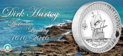 Австралия 1 доллар 2016 Dirk Hartog First Landing. Корабль