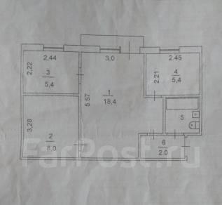 3-комнатная, Некрасова. ТЦ Антарес, частное лицо, 44кв.м. Интерьер