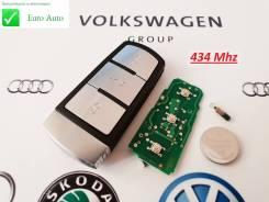 Ключ зажигания, смарт-ключ. Volkswagen Passat, 362, 365, 3C2, 3C5 Volkswagen Passat CC, 357, 358 Volkswagen Santana Двигатели: AXX, AXZ, BKC, BKP, BLF...