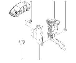 Крепление педали. Renault Duster Renault Logan D4D, D4F, K4M, K7J, K7M, K9K, F4R