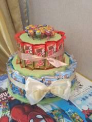 Торт из сладостей ( торт для детского сада )