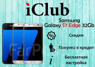 Samsung Galaxy S7 Edge. Новый, 32 Гб, Желтый, Золотой, Dual-SIM, NFC