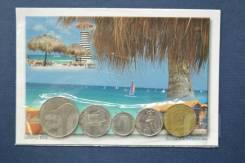 Доминиканская Республика, набор монет и почтовая карточка.