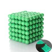 Зеленый светящийся НЕОКУБ в баночке 5 мм