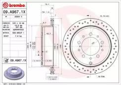 Диск перфорированный Brembo Xtra 09.A967.1X(BCK)