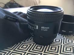 Объектив Nikon AF Nikkor 85 mm 1:1.8D. Для Nikon, диаметр фильтра 62 мм