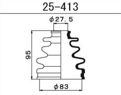 25-413 Пыльник ШРУСа внешнего Maruichi