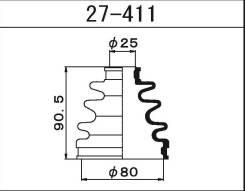 27-411 Пыльник ШРУСа внешнего Maruichi