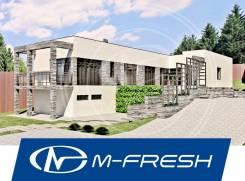 M-fresh Platinum (Проект современного дома с витражами и террасой! ). 200-300 кв. м., 1 этаж, 5 комнат, бетон