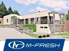 M-fresh Platinum-зеркальный (Проект дома в стиле минимализм). 200-300 кв. м., 1 этаж, 5 комнат, бетон