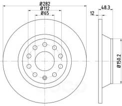Тормозной диск Hella арт. 8DD355112-141