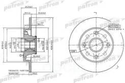 Диск Тормозной Задн C Подшипником И Кольцом Abs (1 Шт) Peugeot: 207/307, Citroen C4 All 06 PATRON арт. PBD7016