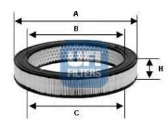 Фильтр воздушный! vaz 2101-09/niva/forma/nova/samara 1.1-1.7 79 UFI арт. 27.719.00 27.719.00_