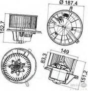 Электродвигатель вентилятора салона Behr-hella арт. 8EW351043-211