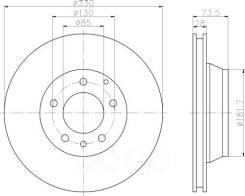 Тормозной диск Hella арт. 8DD355109-821