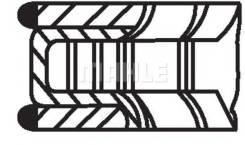 Кольца поршневые 1шт peugeot 1.1 tu1 =75 1.5x2x3 std 87 Mahle/Knecht арт. 03959V0