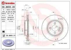 Диск тормозной передний! с покрытием rover mini one/cooper 1.6/1.4d 01 Brembo арт. 09.8655.21 09.8655.21_
