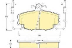 Колодки тормозные renault logan 04-/sandero 08-/clio 91- передние с датчиком 6108071 Girling арт. 6108071