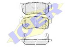 Колодки Дисковые Задние ! Kia Magentis 01/Hyundai Sonata 2.0i-2.7i 98-01 Icer арт. 181645 181645_ Icer 181645