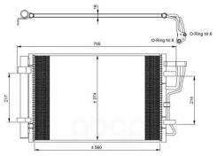 Радиатор Кондиционера Kia Ceed Sw (Ed) 1.6 2007 NRF арт. 35963