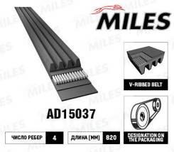 Ремень поликлиновой (материал epdm) 4pk820 ad15037 Miles арт. AD15037