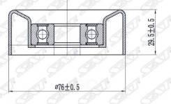 Ролик Натяжителя Приводного Ремня Acura Mdx/Chevrolet Aveo/Honda Accord/Pilot/Land Rover (Нижний) Sat арт. ST-31190-RCA-A01