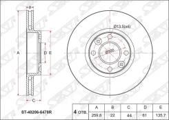 Диск Тормозной Перед Nissan Almera 12-/Lada Vesta/Largus/Renault Logan 12- Sat арт. ST-40206-6478R