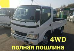 Toyota Dyna. 4WD, кузов 2 тонны, 3 000куб. см., 2 000кг., 4x4