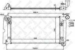 Радиатор системы охлаждения! toyota corolla 1.4/1.6 01 Stellox арт. 1025362SX