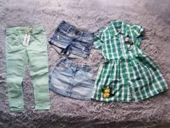 Джинсовые шорты и юбка на девочку next. Рост: 110-116 см