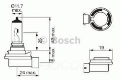 Снят лампа standard h8 12v 35w 1987302081 Bosch арт. 1987302081