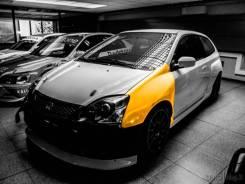 Передние крылья JAS Motorsport для Honda Civic II Type R EP3 01-05