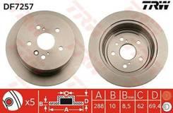 Диск тормозной задний LEXUS RX300 (_U3_), TOYOTA HIGHLANDER (_U2_) DF7257 trw DF7257 в наличии