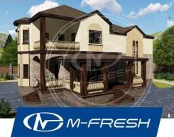 M-fresh Alligator (Готовый строительный проект дома с балконом! ). 300-400 кв. м., 2 этажа, 5 комнат, бетон