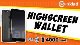 Highscreen Wallet. Новый, 16 Гб, Синий, Черный, 3G, 4G LTE, Dual-SIM