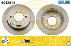 Диск Тормозной Hyundai Sonata (Nf)/Tucson 04-/Kia Sportage 04- Задний D262мм. 6042814 Girling арт. 6042814