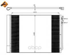 Радиатор кондиционера! bmw f01/f02/f07/f10 09 NRF арт. 350033 Nrf 350033_