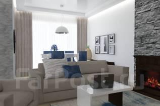 Дизайн проект интерьера квартиры 75 м2