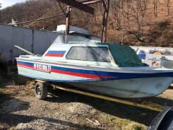 Амур 2. 1993 год, длина 5,75м., двигатель стационарный, 74,00л.с., бензин