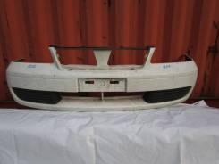 Бампер передний на Nissan Sunny B15, белый