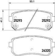 Комплект тормозных колодок дисковый тормоз Textar 2529201 Hyundai / Kia (Mobis): 583022SA00 583024WA10 583022SA10 58302D7A00 583021HA10 583021YA30